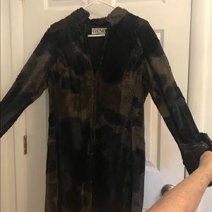 Vintage faux fur dress. 1970s. Fabulous!!